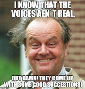 Plotters vs Pantsers Jack Nickolson voices