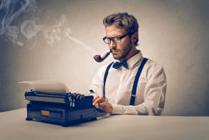 Plotters va Pantsers writer typing